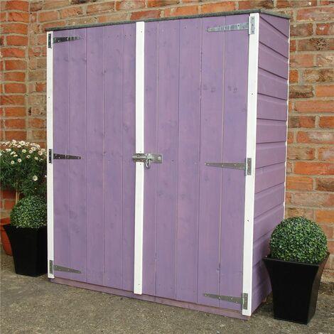 2 x 4 (0.64m x 1.22m) - Tongue And Groove - Pent Garden Store - Double Doors - 11mm Solid OSB Floor (CORE)