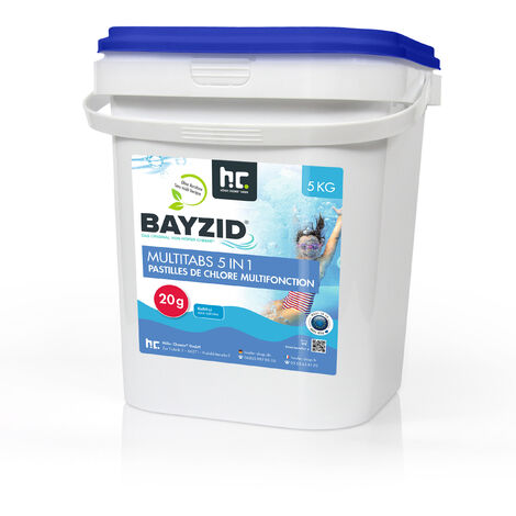 2 x 5 kg 5 Kg Bayzid® Pastilles de chlore multifonction (20g)