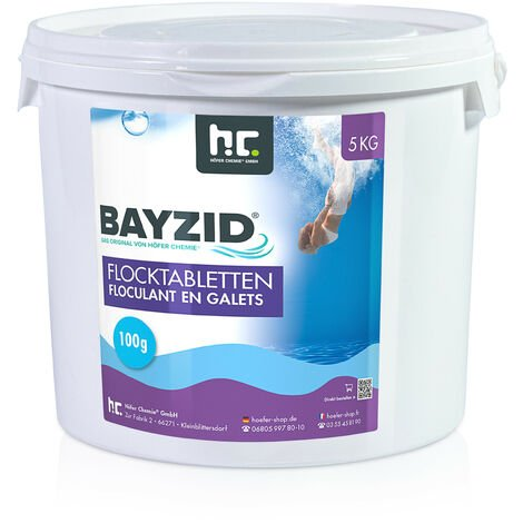 2 x 5 kg Bayzid Floculant en galets (100g)