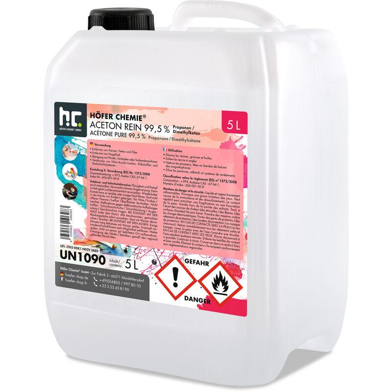 Höfer Chemie - 2 x 5 Litre Acétone pur 99,5%