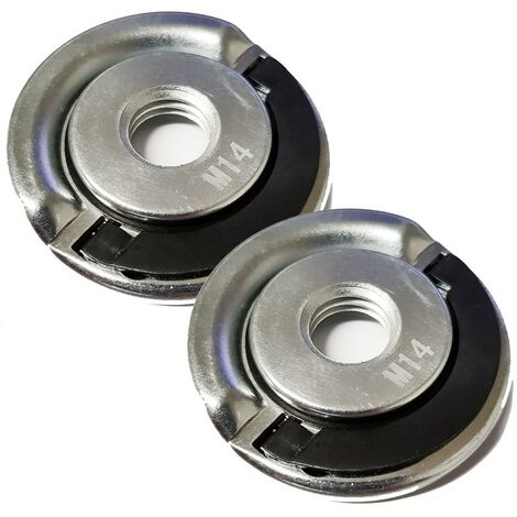 """main image of """"2 x Angle Grinder Blade Disc Quick Change Locking Flange Nut Quick Release M14"""""""