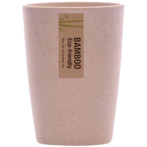 2 x Bamboo Tumbler Organic Cup Eco-Friendly Dishwasher Safe 350ML Holder 8x11CM