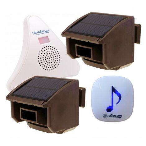 2 x Brown PIR DA600-T Wireless Driveway Alert with 2 x Receivers [004-4890]