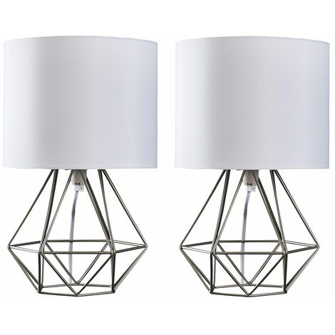 """main image of """"Pair Of Angus Cage Table Lamps"""""""
