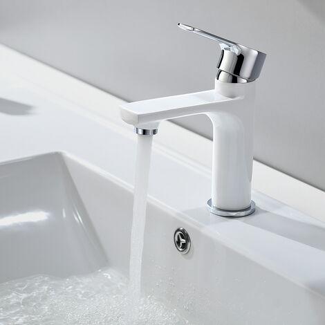 2 x Chrome Single Handle Basin Tap Bathroom Sink Mixer Tap