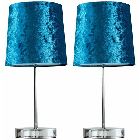 2 x Chrome Table Lamps