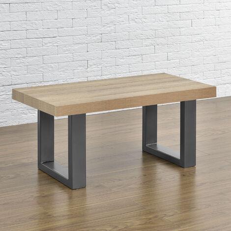 2 x Conjunto de Patas de mesa - Set de 2x patas de mesa - Metal - Patas de los muebles - 40 x 43 cm - Para banco o para mesa de centro - Armazón de mesa - Protección suelo - Gris metálico