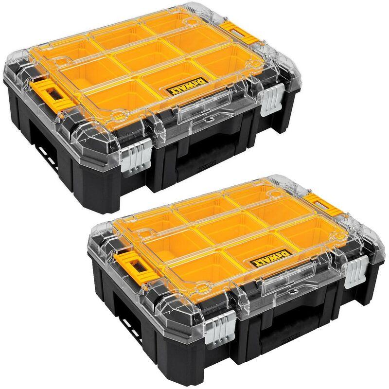 Image of 2 x Dewalt DWST1-71194 TStak V Clear Lid Stackable Tool Fixing Organiser Case