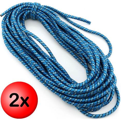 2 x Expanderseil Ø 8mm Länge 20 Meter Gummiseil Expander Gummischnur Spannseil Gummi-Leine Planen-Seil