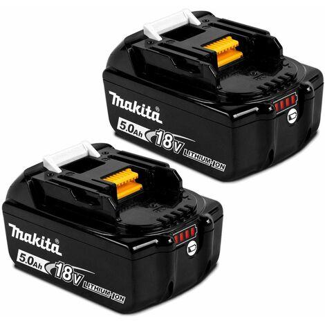 2 X Genuine Makita BL1850 18V 5.0Ah Li-Ion LXT Battery 5AH Star Battery BL1850B