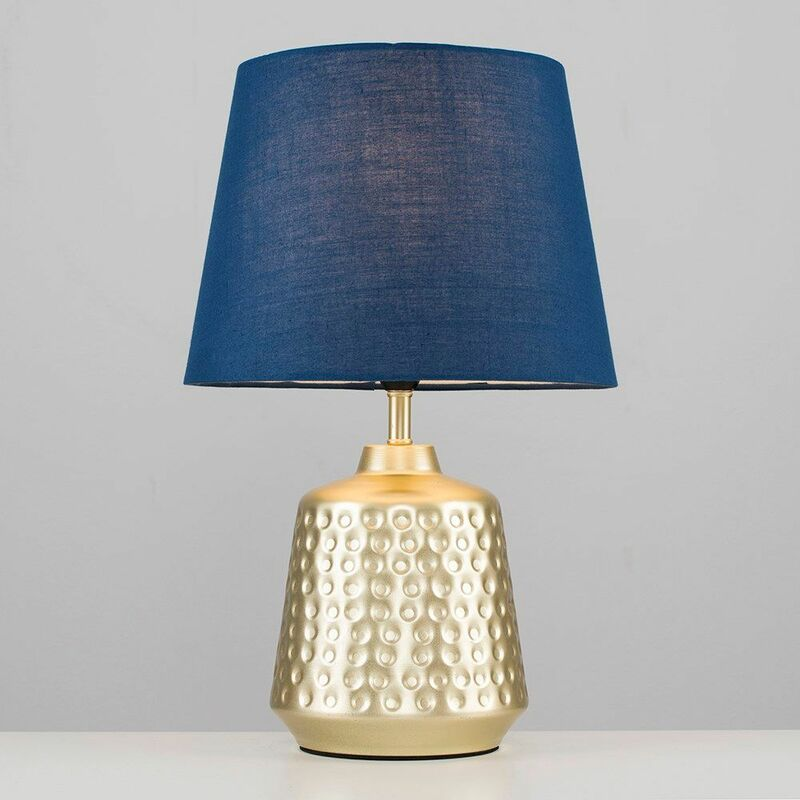 2 x Gold Hammered Touch Table Lamps