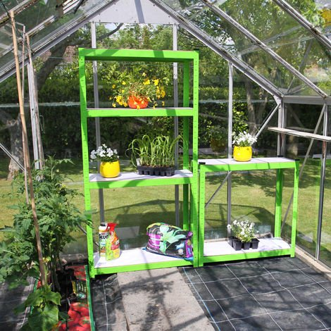2 x Greenhouse Water-Resistant Racking