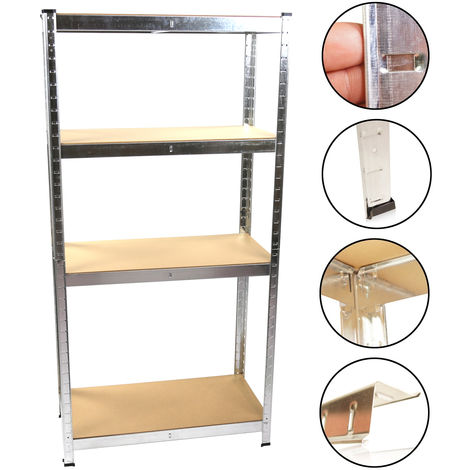 2 x Heavy Duty Shelving Unit Storage Racking Shelf Shelves Boltless Garage 160 x 80 x 40 cm