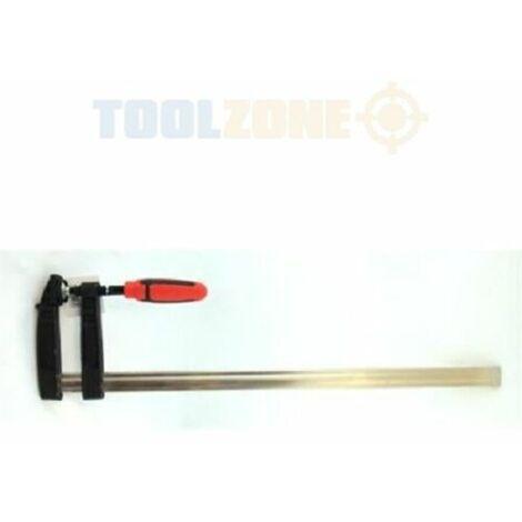 "2 x Heavy Duty Sliding F-Clamps - 600mm (24"") x 120mm (5"") Clamping / Cramp G"