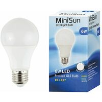 2 x High Power 6w LED ES E27 SMD GLS Energy Saving Bulbs - 6500K Cool White