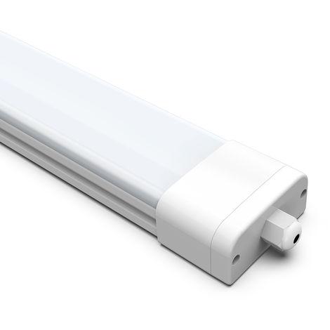 2 x IP65 60cm (2ft) 18W 1400-1800LM White LED Batten Tri-Proof Ceiling Lights