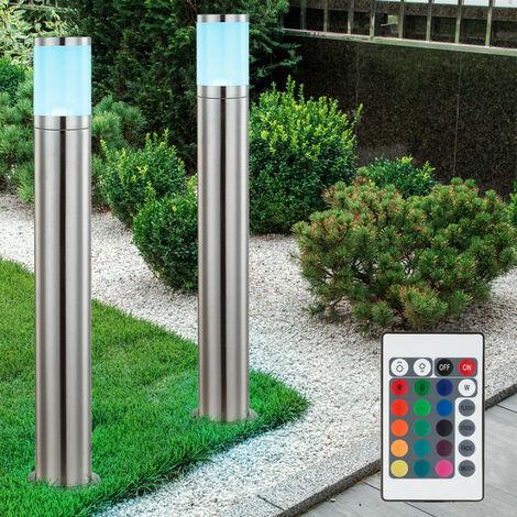 2 x lampadaire LED RVB luminaire sur pied lampe DEL espace extérieur télécommande IP44 jardin