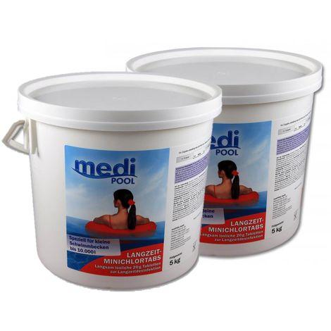 2 x Langzeit MiniChlorTabs 20g, 2 x 5 kg von mediPOOL, Chlorlangzeittabletten