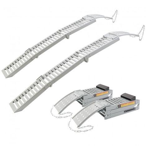 2 x Loading ramp Access ramp Access rails Loader ramp 1600 kg folding