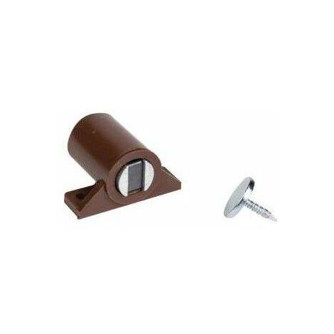 2 x Loqueteaux compacts magnétiques - brun