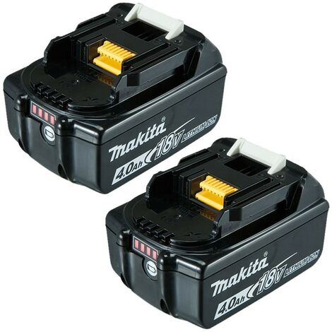 "main image of ""2 X Makita 18V 4.0Ah Li-Ion LXT Battery BL1840 BL1840B 4AH 196399-0 Genuine UK"""