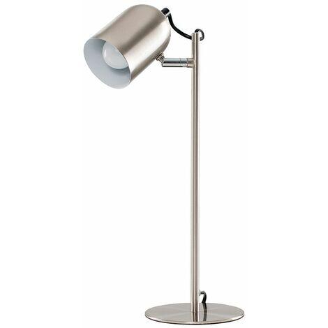 2 X Minisun Brushed Chrome Adjustable Bedside Desk Table Lamps