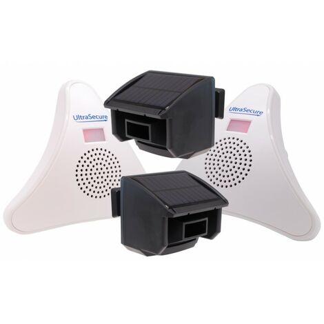 2 x PIR & 2 x Receiver DA600-T Wireless Garden & Driveway Alarm Kit [004-5050]