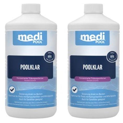 2 x PoolKlar, 2 x 1L von mediPOOL