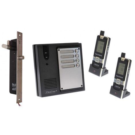 2 x Property 600 metre Wireless UltraCom4 Intercom with Electronic Door Latch