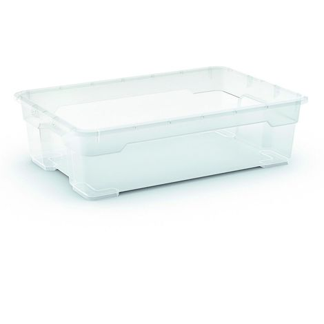 2 x R Box Aufbewahrungsbox 25 Liter, 56,5 x 38 x 16 cm