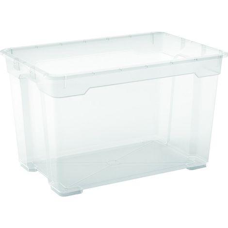 2 x R Box Aufbewahrungsbox 57 Liter, 56,5 x 38 x 36 cm
