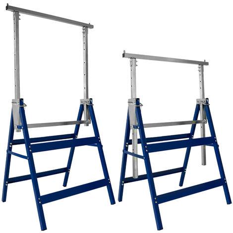 2 x Scaffolding Trestles Galvanized Telescopic Builders Carpenters 200 KG Pair