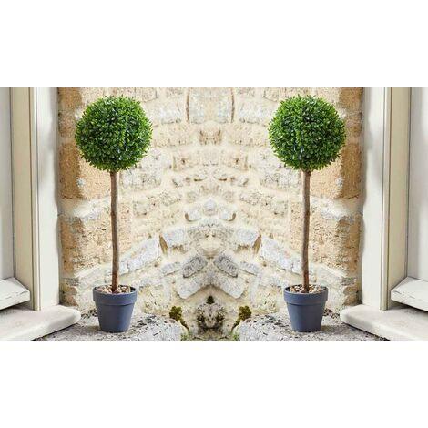 2 x Smart Garden Uno Topiary Ball Tree 40cm Decorative Artificial Indoor Outdoor