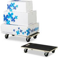 2 x Transportroller XL im Set, Möbelroller mit Feststellbremse, 400 kg, für alle Böden, Transporthilfe
