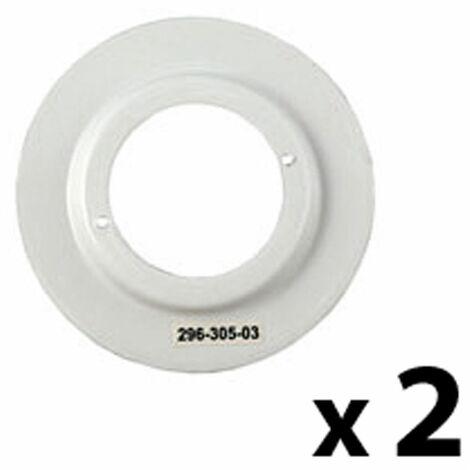 2 x White Shade Reducing Ring
