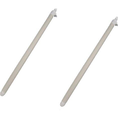 2 x Windbreak Tension Rods - Adjustable Straighten Stretch Bar