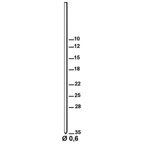 20 000 finettes minibrads en bande INOX A2 D. 0,6 x L. 25 mm AL-25 - 6AL259 Alsafix - -