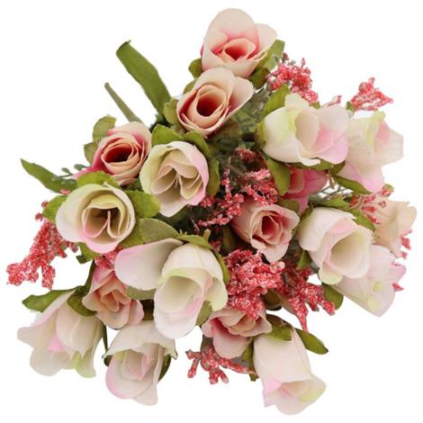 20 Chefs 1Pc Artificielle Rose Bouquet De Fleurs Home Decor De Mariage Mini Rose Fleurs De Soie Party Supplies Mariage Romantique, Violet