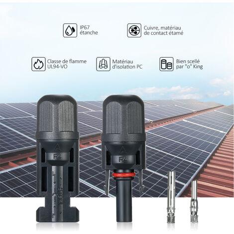 Dogggy Paire de connecteurs MC4 m/âles femelles en forme de Y pour panneau solaire /étanche IP68 Connecteur 1 /à 4