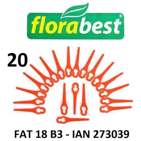20 Couteau en plastique avec disque de coupe pour tondeuse à gazon à batterie Florabest FAT 18 B3 - LIDL IAN 273039