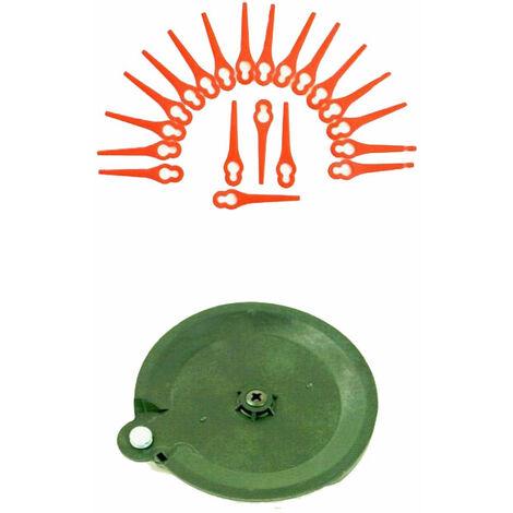20 couteaux et 1 disque de coupe pour votre tondeuse à gazon à batterie Florabest LIDL