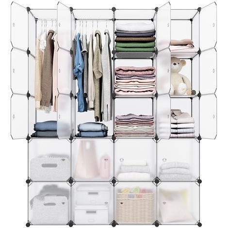 20 cubes diy armoire penderie placard avec portes tag res meuble de rangement capacit par - Cube de rangement avec porte ...