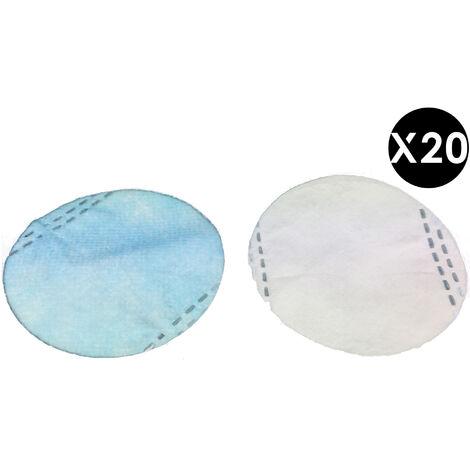 20 filtres FFP2 interchangeables, 4 couches, filtration à 95% particules de 0,3 micron, CE EN 149: 2001 pour masque en silicone réutilisable Epsilon