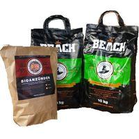 20 Kg Beach Kokos Grill Briketts + 50 Stück Anzünder von BlackSellig - perfekte Profiqualität