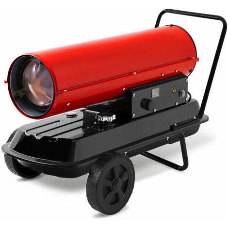20 kW Direkt-Ölheizgebläse (Fahrgestell, Überhitzungsschutz, elektronische Flammensicherung, integriertes Thermostat) Heizkanone Bauheizer Heizlüfter