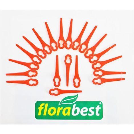 20 lames de rechange Florabest pour Florabest FRT 18 et FRT 18A1