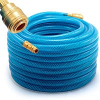 20 m Air Hose Quick Release Coupling Copper Coated Steel