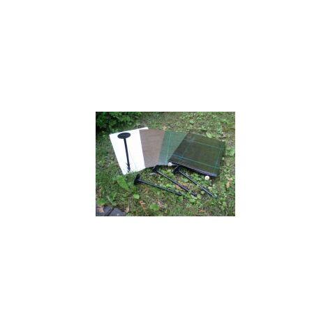20 m Antihierbas 100grs/m2 (Anchura: 1 metro - Color: Verde/Negro - Largo del rollo: 20 metros)