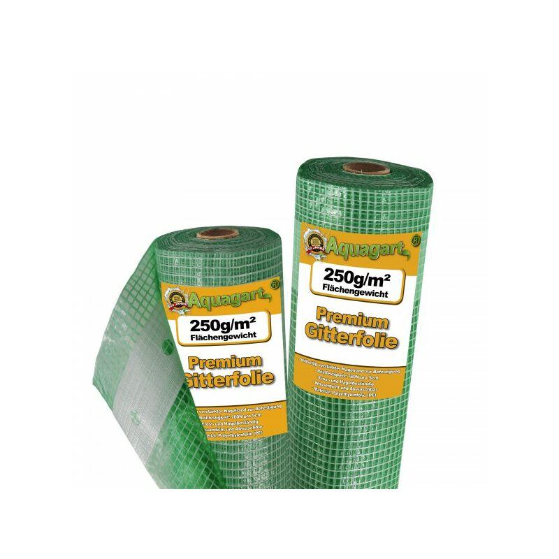Aquagart - 20 m film grillagé, film de jardin, film de serre, film de couche froide, 3 m de large