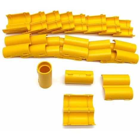 20 manchons de raccordement pour gaine électrique et tube D. 20 mm x L. 50 mm (Jaune) - 100% Français - D-Work